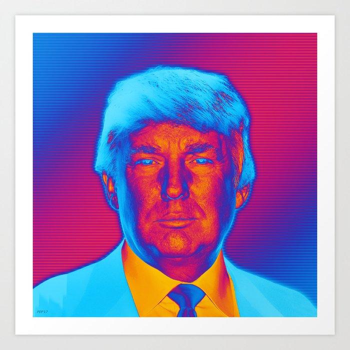 Pop Art President Trump Art Print