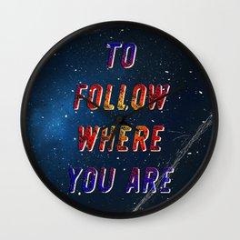 I'm wishing on a Star #2 - 50 Years Moonlanding Wall Clock