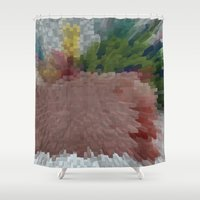 buildings Shower Curtains featuring Buildings by Lily Toya