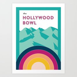 The Hollywood Bowl Art Print
