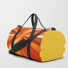 Bright Orange Sun Glare Duffle Bag