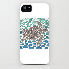 Vanishing Sea Turtle by Black Dwarf Designs iPhone Case