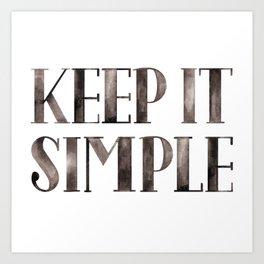 Simplicity Quote Art Print