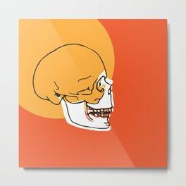 Skull Expand Metal Print
