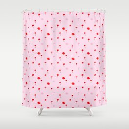 Daisies and Clover Shower Curtain