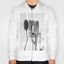 Microphone black and white Hoody