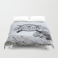 winchester Duvet Covers featuring Winchester Hunting Equipment by kamicom