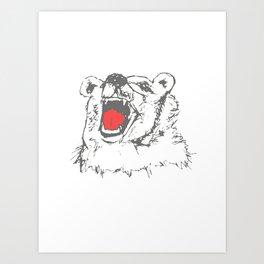 Bruno the cranky Bear Art Print