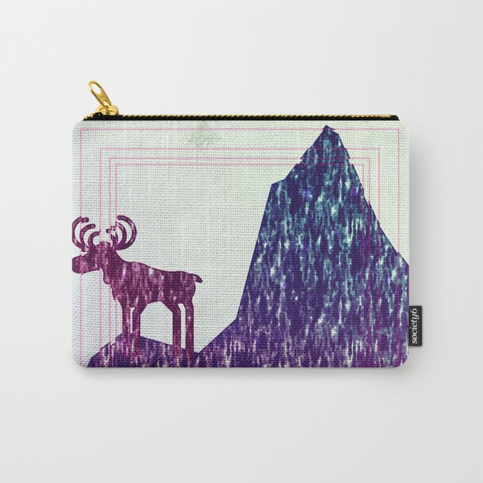 raindeer waiting in color Carry-All Pouch