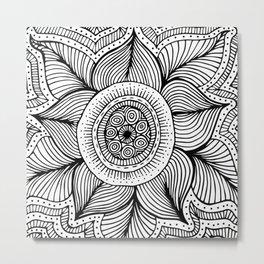 Doodle Flower Metal Print