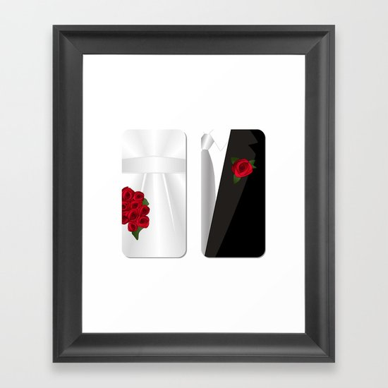 Bride&Groom/Groom's Suit Framed Art Print