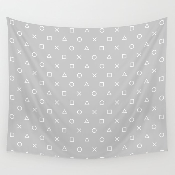 Grey Gamer Wall Tapestry