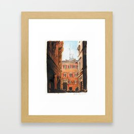 Italy in Yellow Framed Art Print