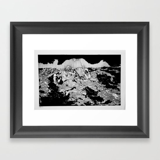 Swallowed By The Sea Framed Art Print