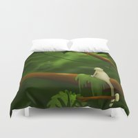 jungle Duvet Covers featuring Jungle by Ramona Treffers