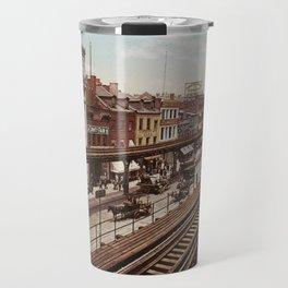 The Bowery New York City Photo-Print (1898) Travel Mug
