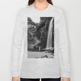 Naked Long Exposure Waterfall Long Sleeve T-shirt