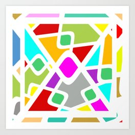 Color Abstract Pattern Art Print