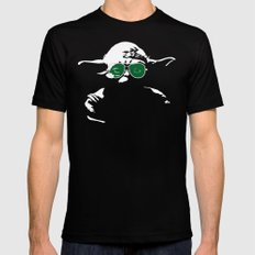 Yoda LARGE Black Mens Fitted Tee