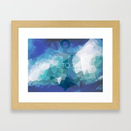 Anchor: Take Me to the Sea Framed Art Print