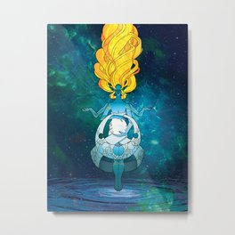 She Who Pulls the Tides Metal Print