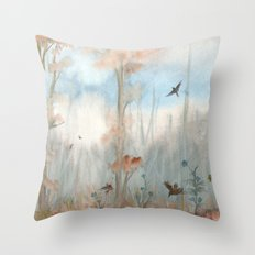 Trees by the Beaver Dam Throw Pillow