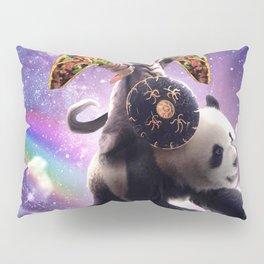 Lazer Warrior Space Cat Riding Panda With Taco Pillow Sham