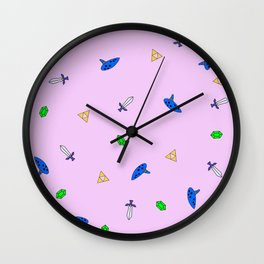 Legend of Zelda Pastel Print Wall Clock