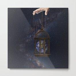 Surrealism Fantasy Earth Metal Print