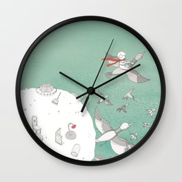 The Little Prince and Rose Wall Clock