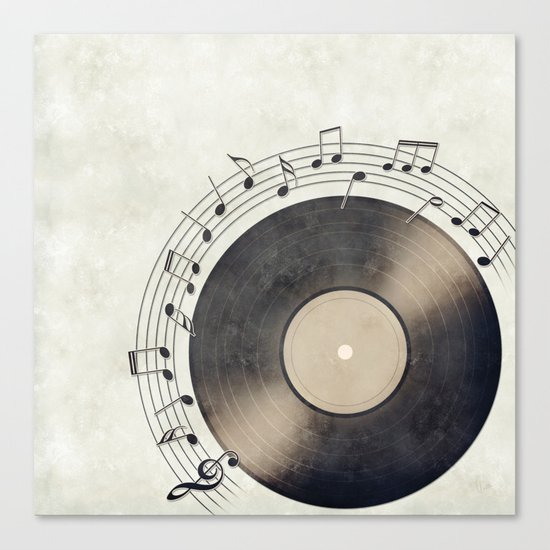 Vinyl Music Collection Canvas Print