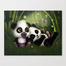 Baby Panda Bears Canvas Print