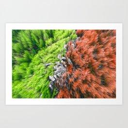 Colorful Spiky Rocks Art Print