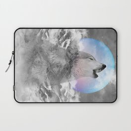 Maybe the Wolf Is In Love with the Moon Laptop Sleeve