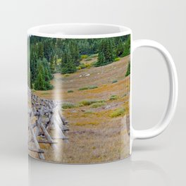 Fenceline in the fall Coffee Mug