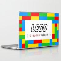 pun Laptop & iPad Skins featuring CSS Pun - Lego by iwantdesigns