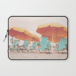 Beach Chairs and Umbrellas Laptop Sleeve