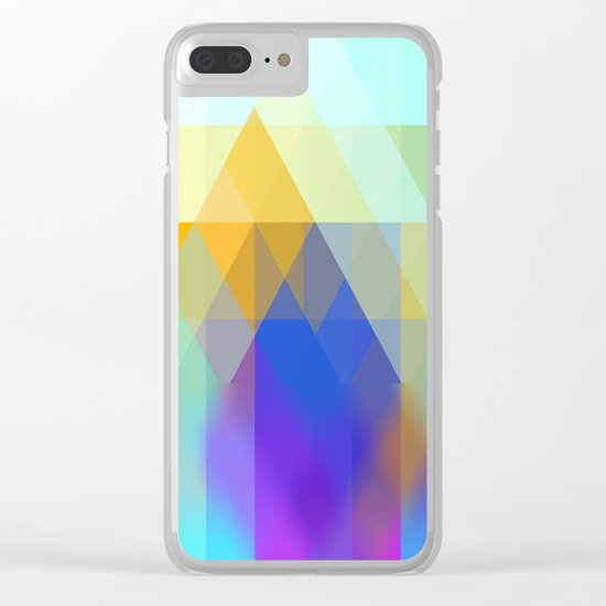 Yellow Mountains Clear iPhone Case