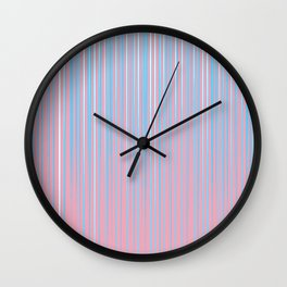Transgender Pride Thin Falling Radiant Vertical Stripes Wall Clock