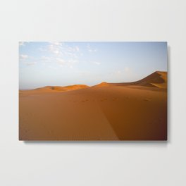 Footsteps in the Sahara Metal Print
