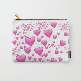 Pink Heart Emoji Collage Carry-All Pouch