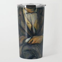 Paul Cézanne - Seated Peasant (1892–96) Travel Mug