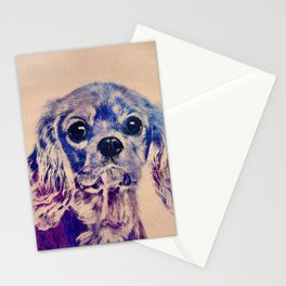 Cavalier King Charles Spaniel Puppy Stationery Cards