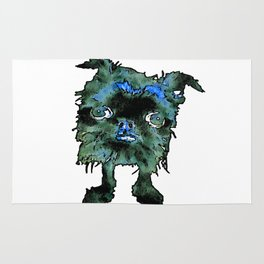Lugga The Friendly Hairball Monster For Boos Rug