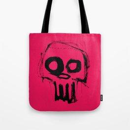 Skull on pink Tote Bag