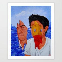 Sonhando sobre el Mar Art Print