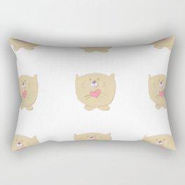 Curious buddy Rectangular Pillow