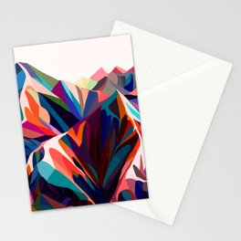 Mountains sunset warm Stationery Cards