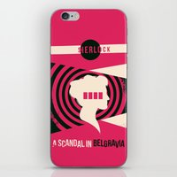scandal iPhone & iPod Skins featuring Scandal in Belgravia by Risa Rodil