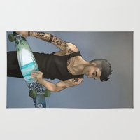 zayn Area & Throw Rugs featuring Zayn Longboard by Skaikat